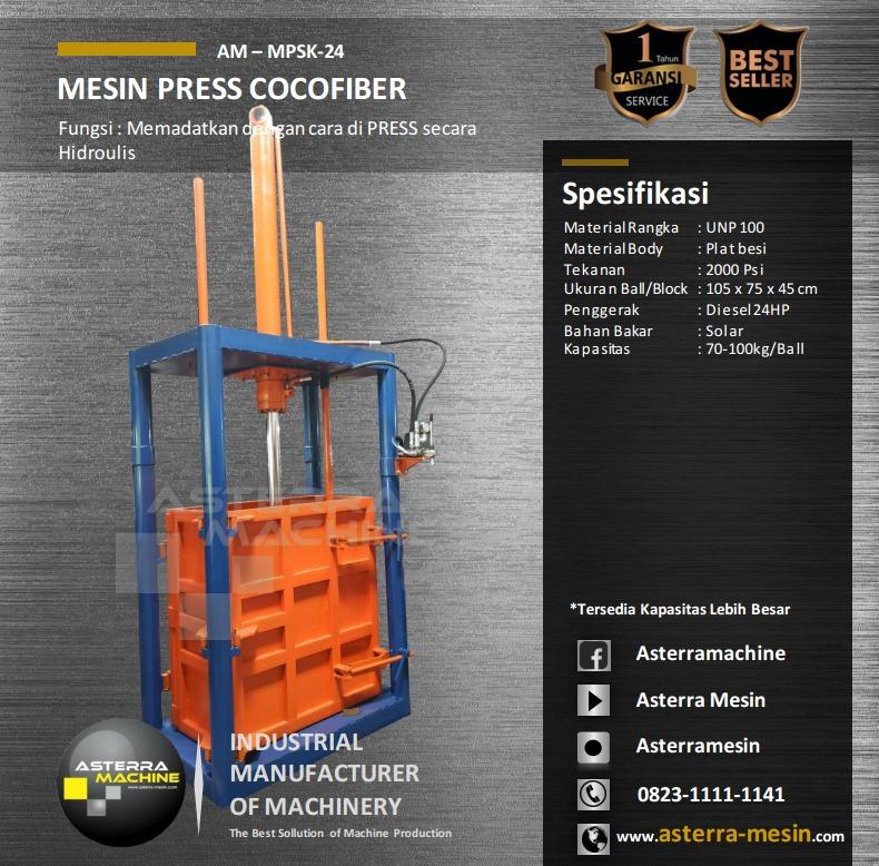 Mesin Press Cocofiber