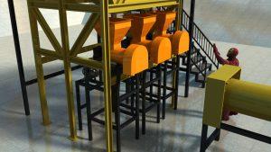 Mesin Pencetak Pelet Pakan Ternak 1 TON/JAM Otomatis Full SET