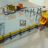 Mesin Pembuat Pelet Pakan Ternak 1 TON/JAM Otomatis Full SET