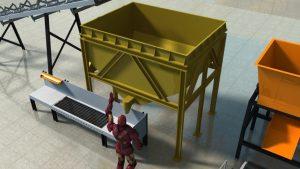 Mesin Hopper Pelet Pakan Ternak 1 TON/JAM Otomatis Full SET